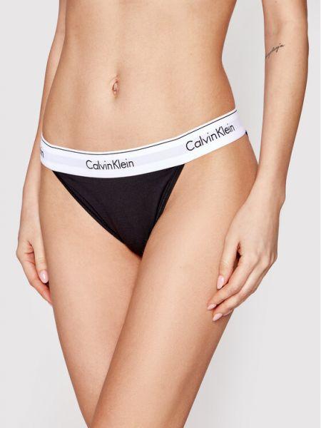 Figi - czarne Calvin Klein Underwear