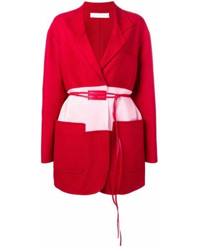 Длинное пальто с капюшоном Victoria Beckham
