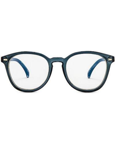 Złote niebieskie okulary Le Specs