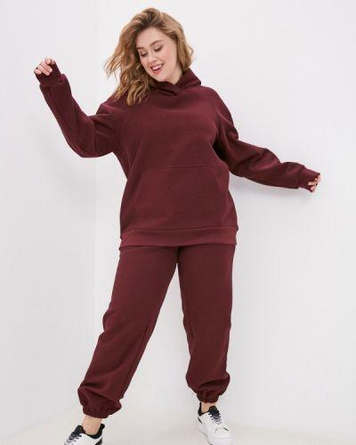 Костюмный красный спортивный костюм авантюра Plus Size Fashion