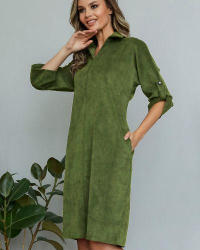 Свободное повседневное с рукавами платье-рубашка Ellcora