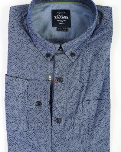 Хлопковая рубашка с длинными рукавами S.oliver