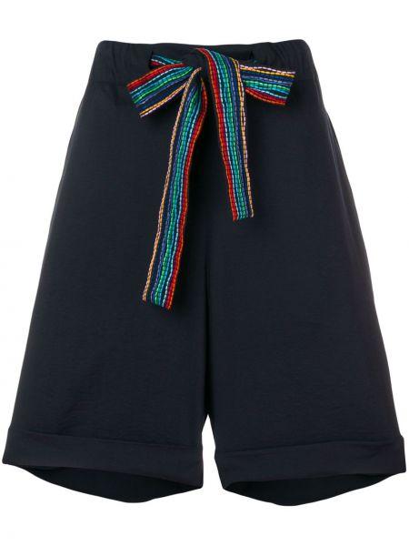 Хлопковые с завышенной талией шорты с карманами Chinti & Parker