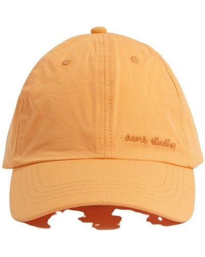 Pomarańczowa czapka Acne Studios