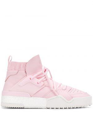 Кожаные кроссовки - розовые Adidas Originals By Alexander Wang
