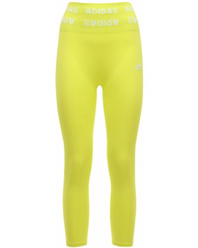 Rajstopy - żółte Adidas Performance
