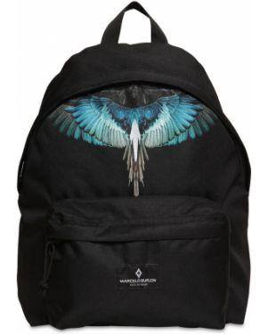 Czarny plecak z nylonu Marcelo Burlon County Of Milan
