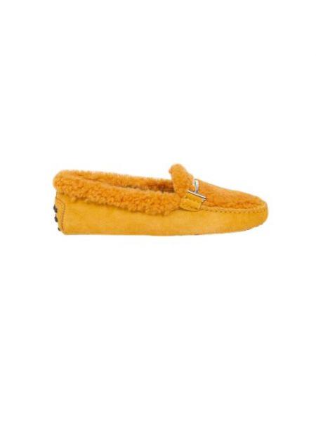 Mokasyny srebrne - żółte Tod's