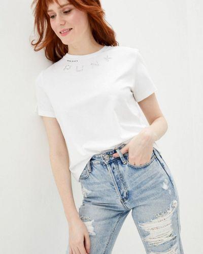 С рукавами белая футболка Miss Sixty