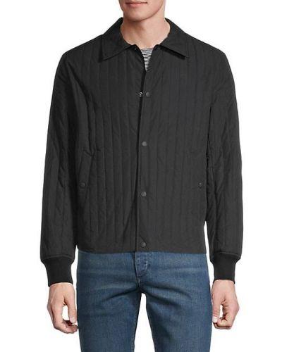 Czarna długa kurtka pikowana bawełniana Rag & Bone