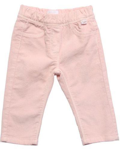 Розовые бархатные брюки Il Gufo