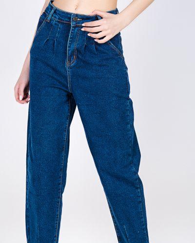 Хлопковые синие джинсы Feimailis