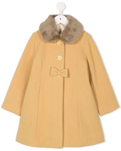 Длинное пальто желтый на пуговицах Miki House