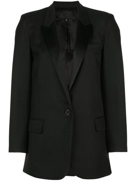 Однобортный черный пиджак с карманами Nili Lotan