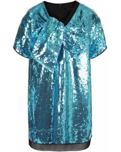 Платье мини с пайетками бирюзовый Marc Jacobs