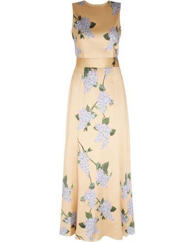 Облегающее шелковое платье макси A La Russe