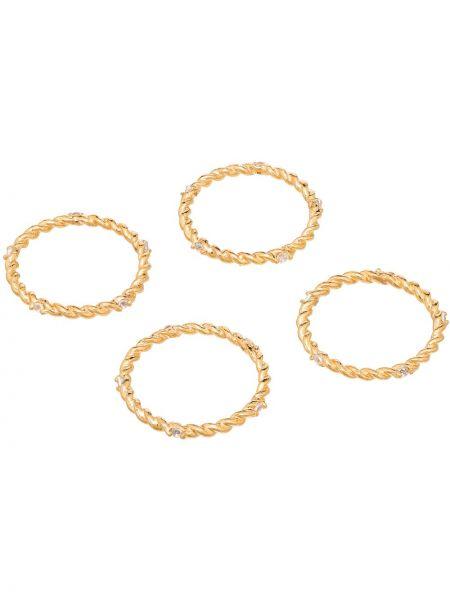 Złoty pierścionek pozłacany Joanna Laura Constantine