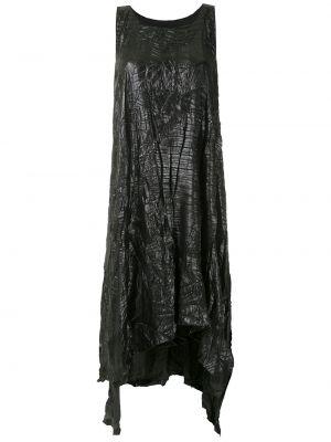 Черное асимметричное платье миди без рукавов с вырезом Uma   Raquel Davidowicz