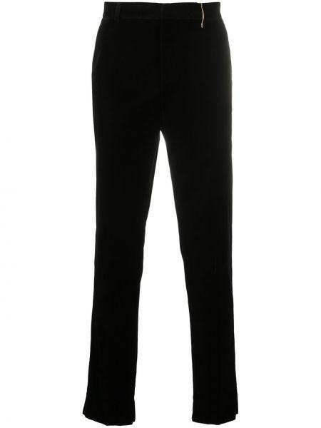 Czarne spodnie bawełniane Rochas