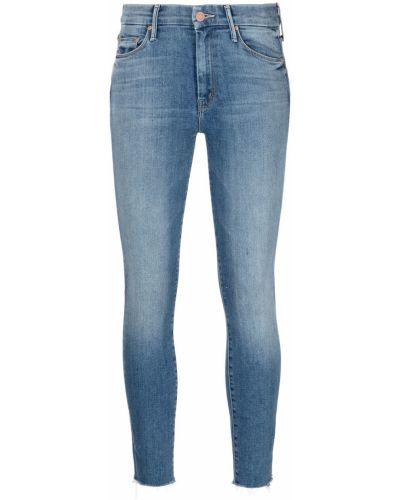 Синие с завышенной талией джинсы-скинни на молнии Mother