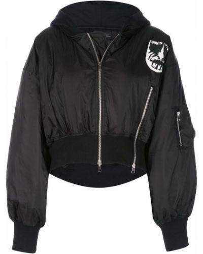 Черная короткая куртка с манжетами в рубчик Barbara Bologna