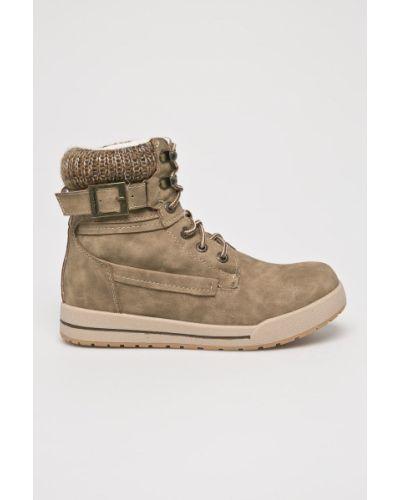 Ботинки на каблуке - бежевые American Club