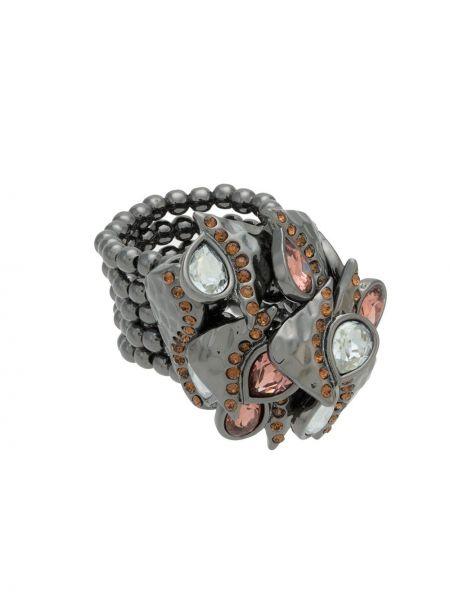 Черное кольцо металлическое Camila Klein