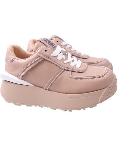 Кожаные кроссовки - бежевые Berisstini