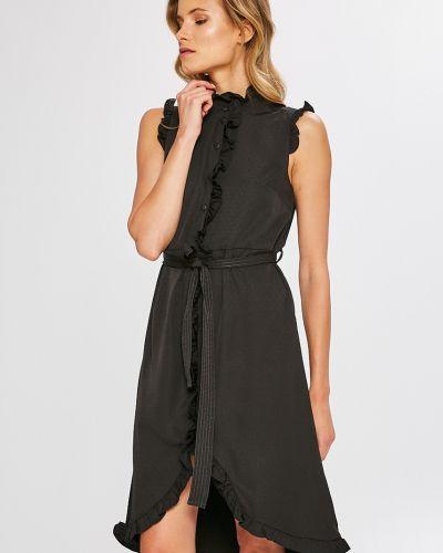 Платье мини на пуговицах прямое с оборками Vero Moda