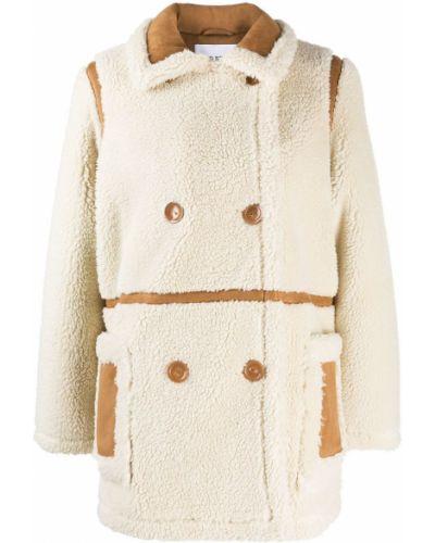 Терракотовое укороченное пальто Stand