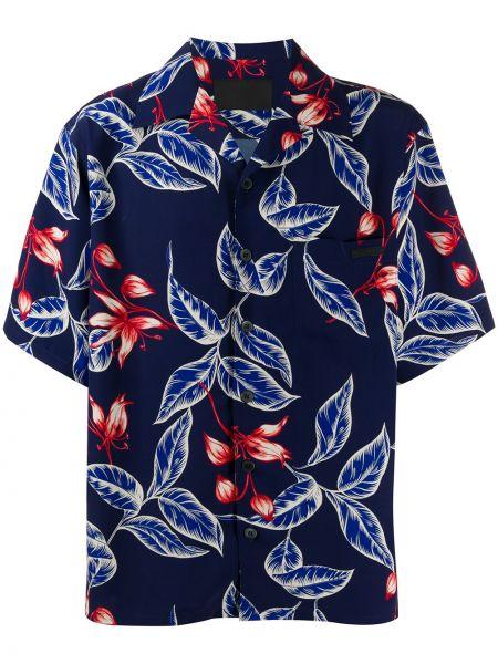 Koszula krótkie z krótkim rękawem klasyczna z kołnierzem Prada