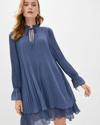 Прямое синее платье Mbym