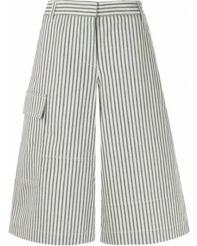 С завышенной талией шорты в полоску с карманами Tibi