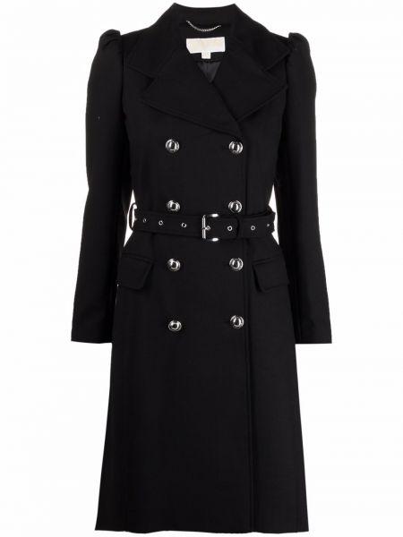 Черное пальто из спандекса Michael Michael Kors