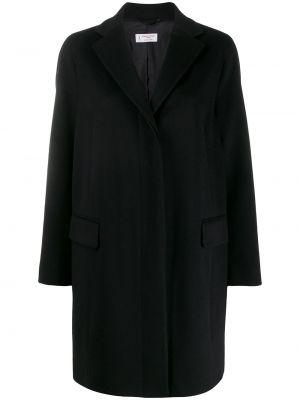Шерстяное пальто - черное Alberto Biani