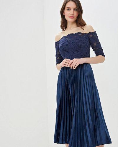 Вечернее платье синее Chi Chi London