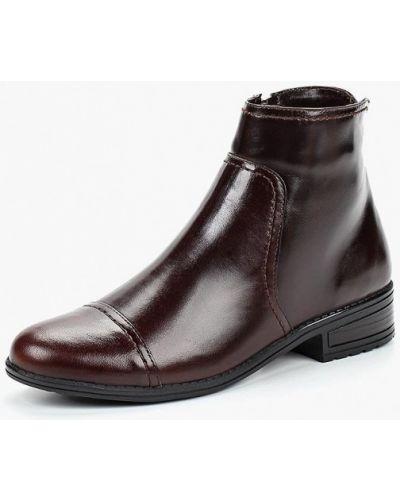 Кожаные ботинки осенние коричневые юничел