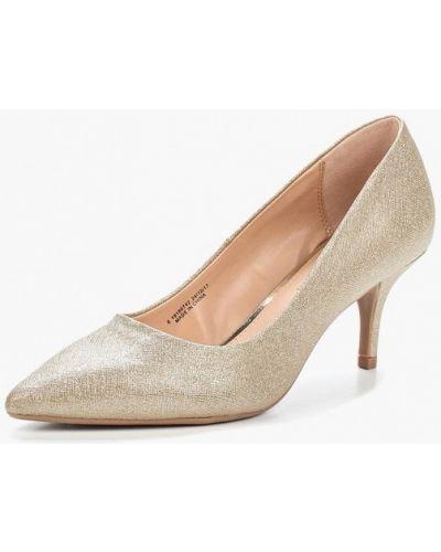 Туфли-лодочки золотого цвета Dorothy Perkins