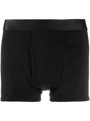 Хлопковые черные носки с поясом с разрезом Sunspel