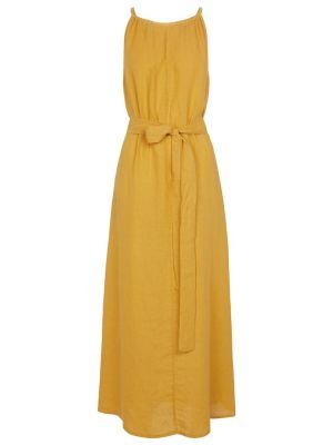 Желтое бархатное платье макси Velvet