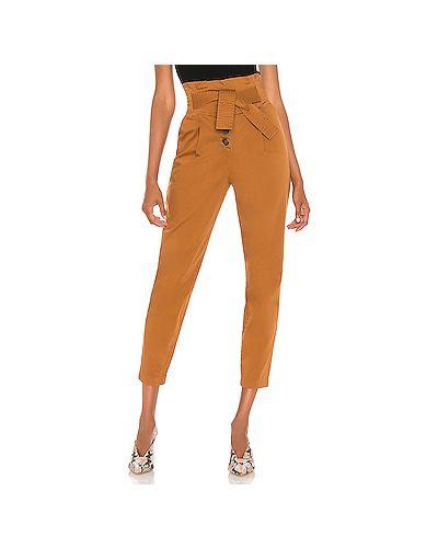 Хлопковые коричневые брюки с завязками с карманами Alc