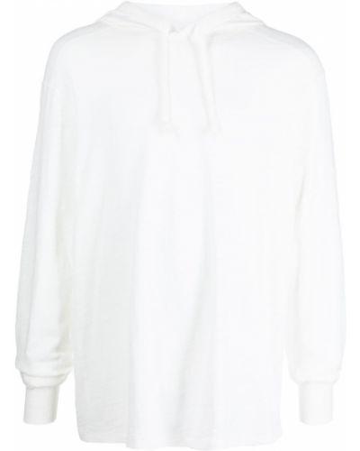 Biała bluza z kapturem z długimi rękawami Rag & Bone
