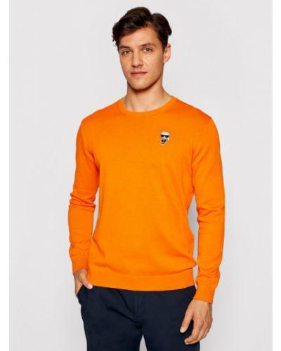 Pomarańczowy sweter Karl Lagerfeld