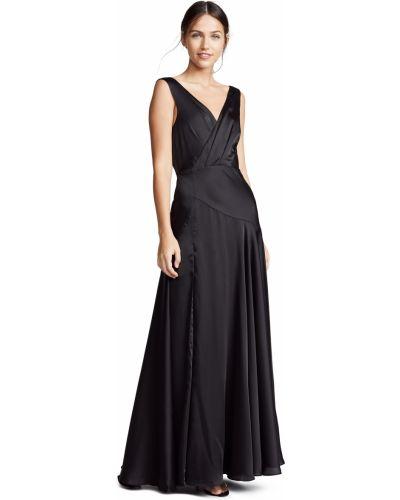 Открытое черное платье макси с открытой спиной Fame And Partners