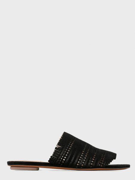 Черные кожаные мюли Alaïa