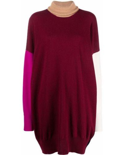 Платье макси с длинными рукавами - красное Marni