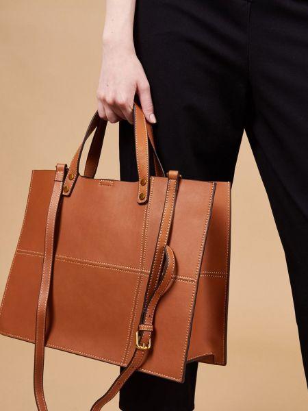 Кожаная сумка шоппер с ручками 12storeez