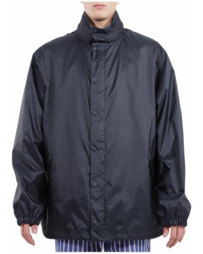 Długa kurtka z kapturem z nylonu z długimi rękawami Balenciaga