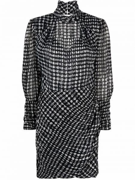 Платье мини с воротником - черное Ba&sh