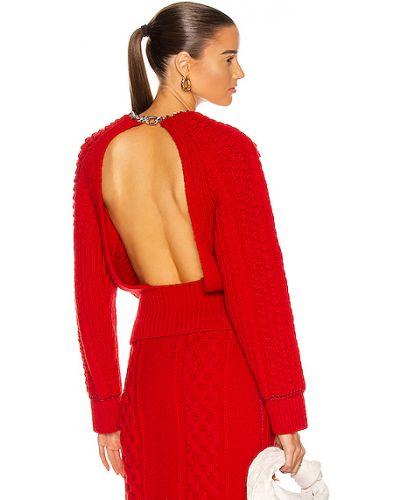 Серебряный шерстяной свитер с воротником Bottega Veneta